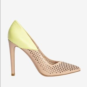 French Connection perforated pump heels